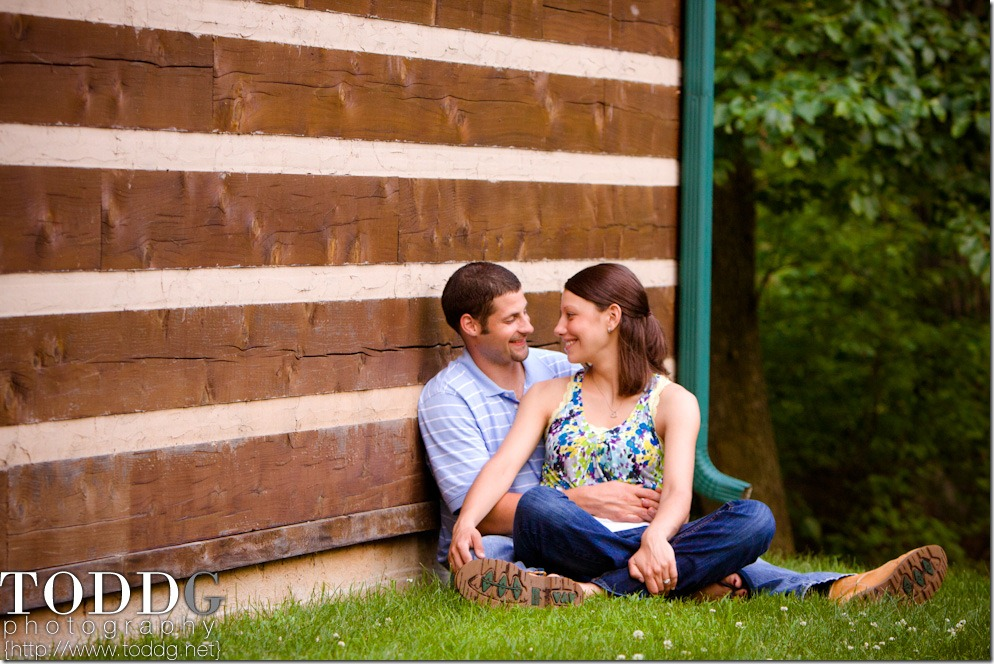romantic moment at Governor Dick Park nature center