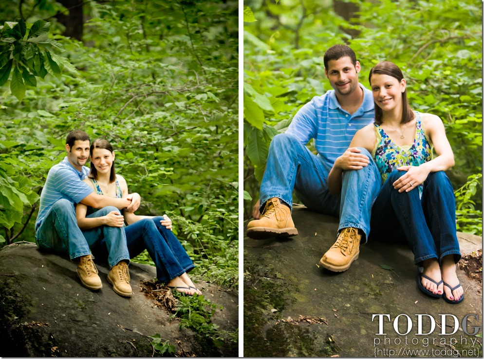 Sarah and Ben at Governor Dick Park in Mount Gretna, PA.